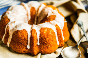 Pumpkin bundt cakes don't last long once their intoxicating aroma fills the house. Dried cranberries and orange peel, and let's not forget the walnuts, are excellent flavor and texture additions.