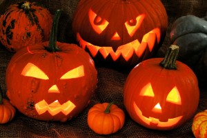 Jack o' Lanterns are very popular Halloween decorations.