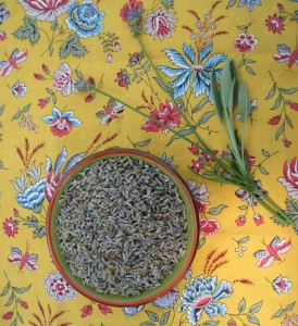 Lavender and sage both make teas that soothe the stomach and aid digestion.