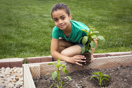 Give children responsibility in the garden.