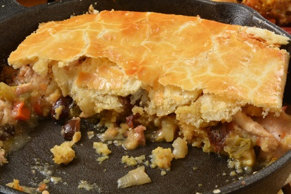 Why not make turkey pot pie in a cast iron skillet?